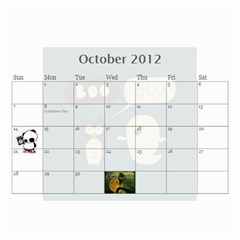 2012new By Amanda Dunn   Wall Calendar 8 5  X 6    Djuk3jeyhg7o   Www Artscow Com Oct 2012