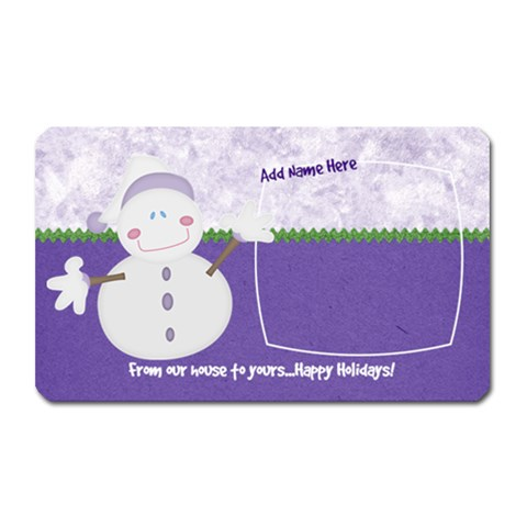 Let It Snow From Ours To Yours By Bitsoscrap   Magnet (rectangular)   6zxm85eq047t   Www Artscow Com Front