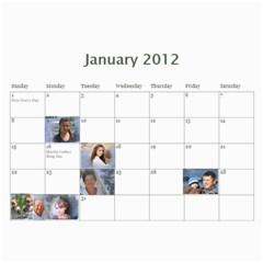 Kalendar By Tania   Wall Calendar 11  X 8 5  (12 Months)   Le89rtnvdn8x   Www Artscow Com Jan 2012