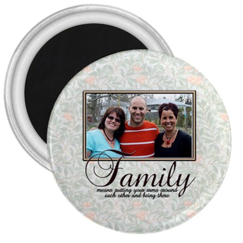 Family Magnet Pizza By Patricia W   3  Magnet   0e30hnz0v8vp   Www Artscow Com Front