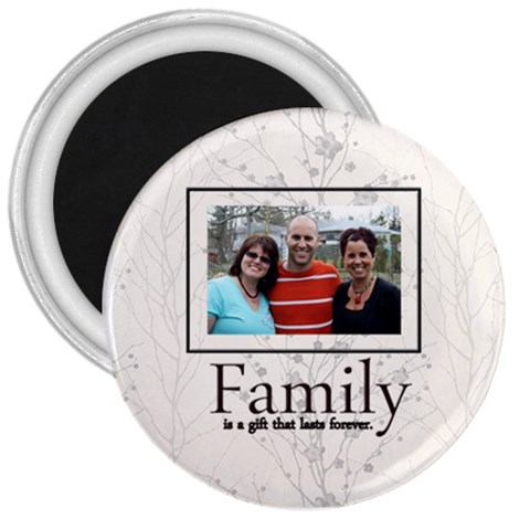 Family Magnet Pizza33 By Patricia W   3  Magnet   Qsbs8jtittfa   Www Artscow Com Front