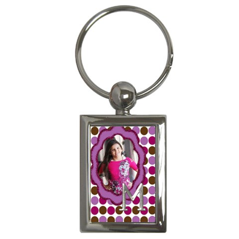 Keychain Girl By Angela Anos   Key Chain (rectangle)   2dv14y4ypg4b   Www Artscow Com Front