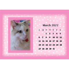 Pink Princess 2017 Desktop Calendar By Deborah   Desktop Calendar 8 5  X 6    Pd4jwc2ddnqp   Www Artscow Com Mar 2017