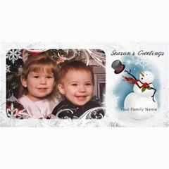 Snowman Christmas Photo Card By Laurrie   4  X 8  Photo Cards   5ngmnan6dey3   Www Artscow Com 8 x4 Photo Card - 8