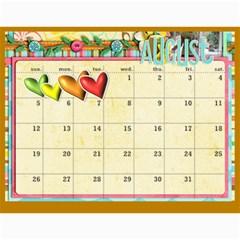 Marli s Calender 2 By Linda Ward   Wall Calendar 11  X 8 5  (12 Months)   Bm7oimqdigsa   Www Artscow Com Aug 2012