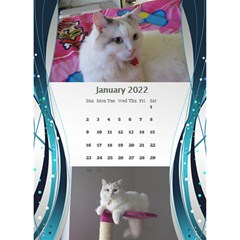 Blue Wave 2018 Desktop Calendar By Deborah   Desktop Calendar 6  X 8 5    Dk0971o7d11j   Www Artscow Com Jan 2018