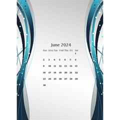 Blue Wave 2018 Desktop Calendar By Deborah   Desktop Calendar 6  X 8 5    Dk0971o7d11j   Www Artscow Com Jun 2018