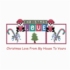 Christmas Love By Amarie   4  X 8  Photo Cards   4dax96yw316k   Www Artscow Com 8 x4 Photo Card - 3