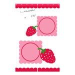 Strawberries shower curtain 01 - Shower Curtain 48  x 72  (Small)
