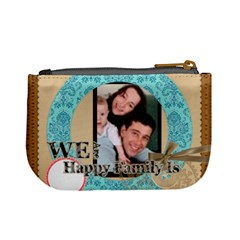 We Are Happy Family By Joely   Mini Coin Purse   A3lq1nbytefe   Www Artscow Com Back