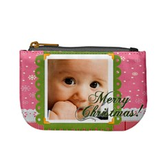 Merry Christmas By Joely   Mini Coin Purse   L4f9flj8kd9x   Www Artscow Com Front