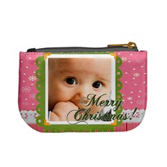 Merry Christmas By Joely   Mini Coin Purse   L4f9flj8kd9x   Www Artscow Com Back
