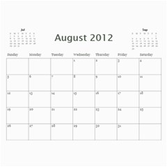Every Year By Joely   Wall Calendar 11  X 8 5  (12 Months)   Pz8f1dhrujoc   Www Artscow Com Aug 2012