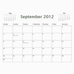 Every Year By Joely   Wall Calendar 11  X 8 5  (12 Months)   Pz8f1dhrujoc   Www Artscow Com Sep 2012