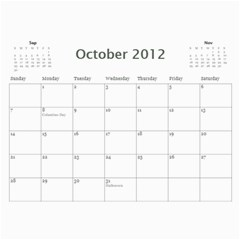 Every Year By Joely   Wall Calendar 11  X 8 5  (12 Months)   Pz8f1dhrujoc   Www Artscow Com Oct 2012