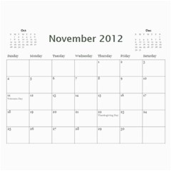 Every Year By Joely   Wall Calendar 11  X 8 5  (12 Months)   Bypbpk8c84gt   Www Artscow Com Nov 2012