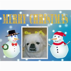 Winter Snowman Christmas Card By Kim Blair   5  X 7  Photo Cards   1lrc092m14e0   Www Artscow Com 7 x5 Photo Card - 5