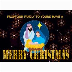 Nativity Scene Christmas Card 1 By Kim Blair   5  X 7  Photo Cards   Unxc0uy0xjyc   Www Artscow Com 7 x5 Photo Card - 5