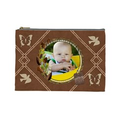 Beautiful Brown Large Cosmetic Bag By Lil    Cosmetic Bag (large)   3vrdnh862024   Www Artscow Com Front
