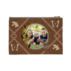 Beautiful Brown Large Cosmetic Bag By Lil    Cosmetic Bag (large)   3vrdnh862024   Www Artscow Com Back