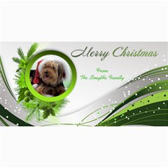Merry Christmas 4x8 Photo Card In  Green By Deborah   4  X 8  Photo Cards   Ue0yvawdvwbi   Www Artscow Com 8 x4 Photo Card - 8