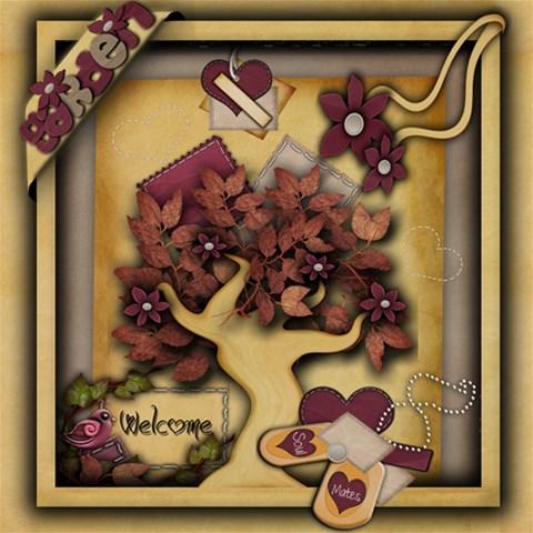 Autumns Kisses By Amarie   Scrapbook Page 12  X 12    8ud488cyzj2l   Www Artscow Com 12 x12 Scrapbook Page - 1