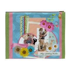 Flower Kids By Joely   Cosmetic Bag (xl)   Jhqmlewerol3   Www Artscow Com Back