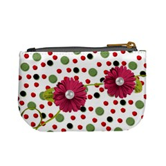 Mini Coin Purse Red Grn Dots By Laurrie   Mini Coin Purse   N2sih0e0c2s7   Www Artscow Com Back