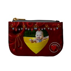 Lotsa Red Hears Mini Coin Purse By Lil    Mini Coin Purse   Spn73my06iaz   Www Artscow Com Front
