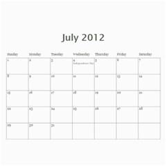All Dates Calendar By Necia   Wall Calendar 11  X 8 5  (12 Months)   A23bokgpds41   Www Artscow Com Jul 2012