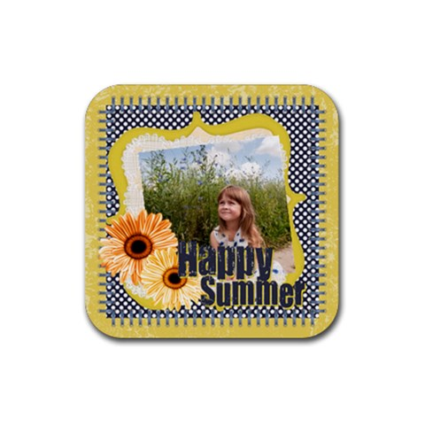Happy Summer By May   Rubber Coaster (square)   Cqvato0ggg2c   Www Artscow Com Front