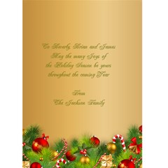 Christmas Greeting Card 5x7 By Deborah   Greeting Card 5  X 7    Hma4ljowvukj   Www Artscow Com Back Inside