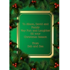 Alison And David By Deborah   Greeting Card 5  X 7    0sel7mvufu1y   Www Artscow Com Back Inside