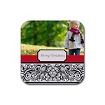 merry christmas - Rubber Square Coaster (4 pack)