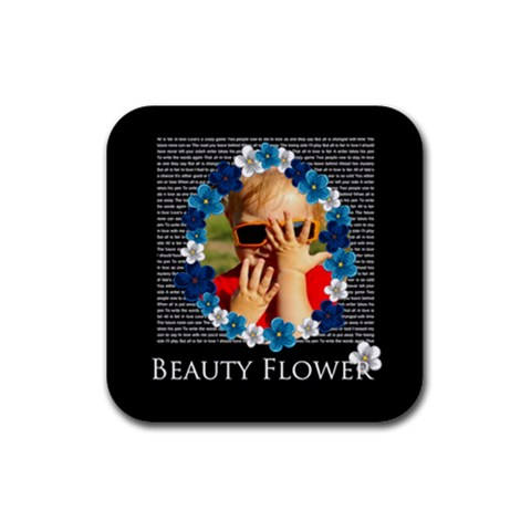 Flower Girls By Joely   Rubber Coaster (square)   Weyi0kv7j1d8   Www Artscow Com Front