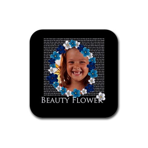 Flower Girls By Joely   Rubber Square Coaster (4 Pack)   Gdm4oj03309f   Www Artscow Com Front