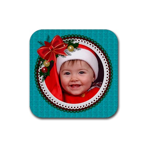 Christmas Coaster By Deborah   Rubber Coaster (square)   W1gcwg3tgtvk   Www Artscow Com Front