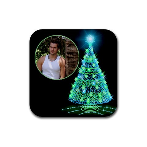 My Christmas Tree Coaster By Deborah   Rubber Coaster (square)   Xgq6etemz9i8   Www Artscow Com Front