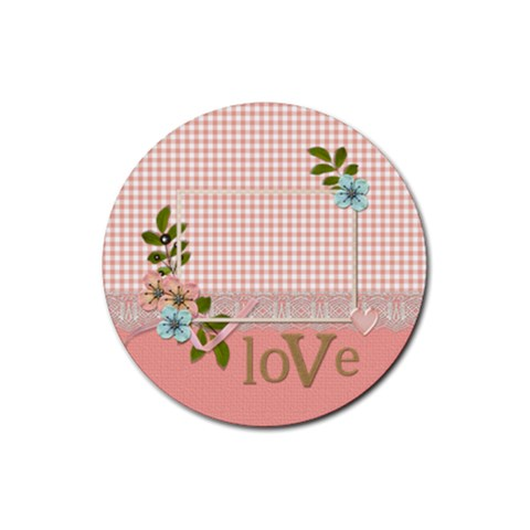 Coaster: Love By Jennyl   Rubber Coaster (round)   Syzmjz7h6b1h   Www Artscow Com Front