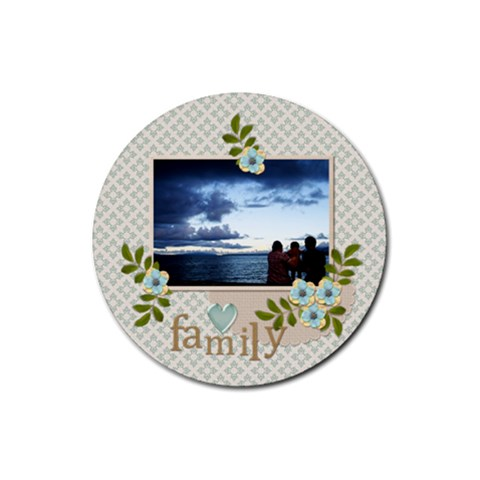 Coaster:  Family By Jennyl   Rubber Coaster (round)   9xsy2hycw4na   Www Artscow Com Front