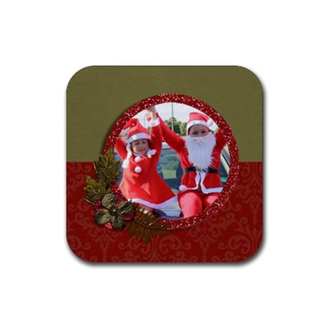 Coaster: Christmas1 By Jennyl   Rubber Coaster (square)   55cpyls0y31z   Www Artscow Com Front