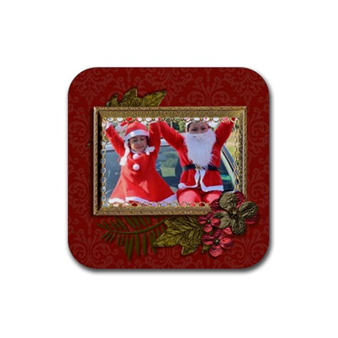 Coaster: Christmas3 By Jennyl   Rubber Coaster (square)   4aknrd5wc9kr   Www Artscow Com Front