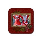 Coaster: Christmas3 - Rubber Coaster (Square)