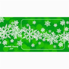 8x4 Photo Greeting Card Green Snowflakes By Laurrie   4  X 8  Photo Cards   Mqfyilthnjwf   Www Artscow Com 8 x4 Photo Card - 2