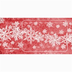 8x4 Photo Greeting Card Red Snowflakes By Laurrie   4  X 8  Photo Cards   Yivbg3bikdnz   Www Artscow Com 8 x4 Photo Card - 8
