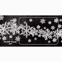 8x4 Photo Greeting Card Black Snowflakes By Laurrie   4  X 8  Photo Cards   1fhiduaaxv70   Www Artscow Com 8 x4 Photo Card - 8