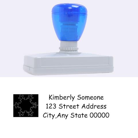 Snowflake Address Stamp By Kim Blair   Rubber Address Stamp (xl)   P4ty4bi7irj3   Www Artscow Com 3.13 x1.38  Stamp