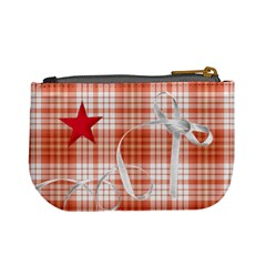 Mini Coin Purse Red Stars By Laurrie   Mini Coin Purse   Idc3btw5v0ug   Www Artscow Com Back