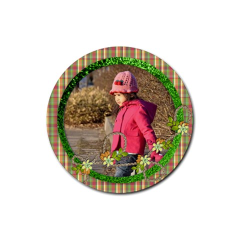 Christmas   Coaster 3 By Angel   Rubber Coaster (round)   Divriqu216dq   Www Artscow Com Front