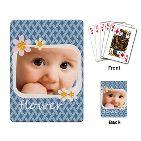 Flower By Joely   Playing Cards Single Design   9yrcwuck3yxk   Www Artscow Com Back